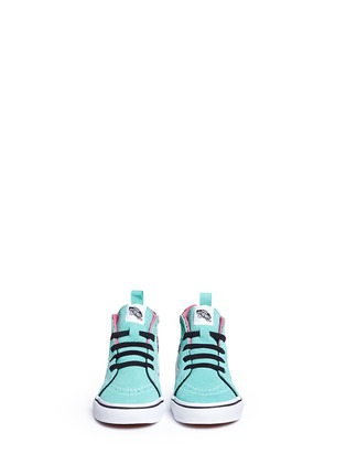Figure View - Click To Enlarge - Vans - 'SK8-Hi Zip' star print canvas suede toddler sneakers