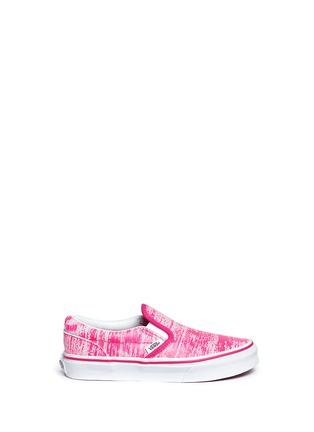 Main View - Click To Enlarge - Vans - 'Classic' brushed paint stroke print suede kids slip-ons