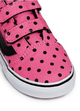Detail View - Click To Enlarge - Vans - 'Old Skool V' polka dot canvas toddler sneakers