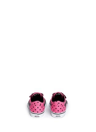 Back View - Click To Enlarge - Vans - 'Old Skool V' polka dot canvas toddler sneakers
