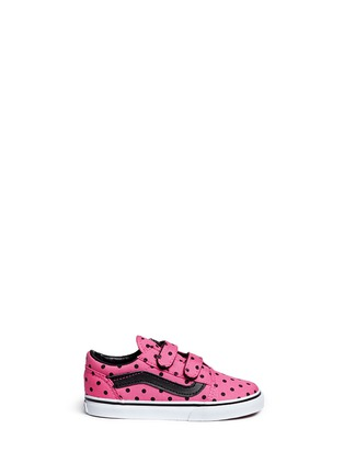 Main View - Click To Enlarge - Vans - 'Old Skool V' polka dot canvas toddler sneakers