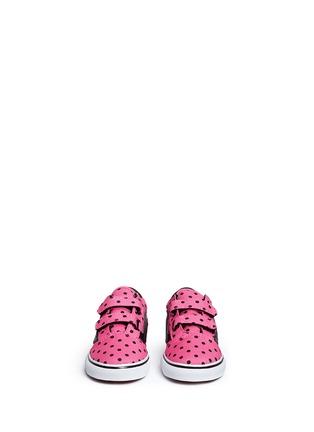 Figure View - Click To Enlarge - Vans - 'Old Skool V' polka dot canvas toddler sneakers