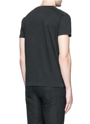Back View - Click To Enlarge - SAINT LAURENT - 'Blood Luster' print cotton T-shirt