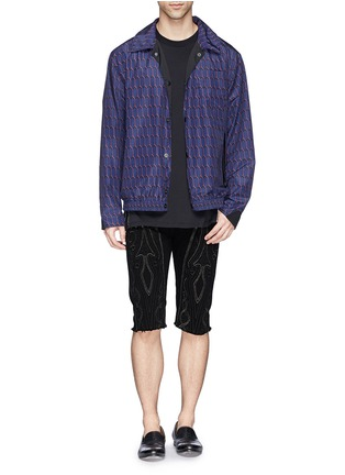 Figure View - Click To Enlarge - Dries Van Noten - 'Pender' embroidered denim shorts
