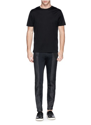 Figure View - Click To Enlarge - Dries Van Noten - 'Palmer' jacquard quilted leg cropped pants