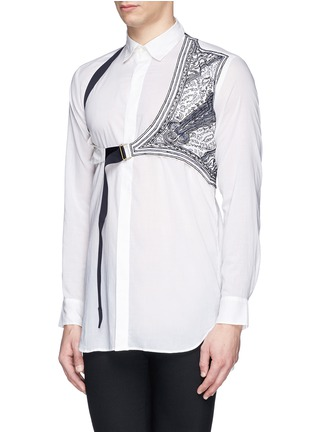 Front View - Click To Enlarge - Dries Van Noten - 'Cooper' embroidery harness cotton shirt