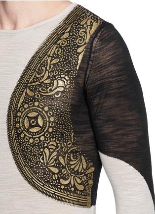 Detail View - Click To Enlarge - Dries Van Noten - 'Napoleon' harness sweater
