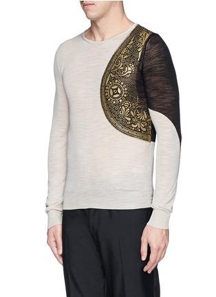 Front View - Click To Enlarge - Dries Van Noten - 'Napoleon' harness sweater
