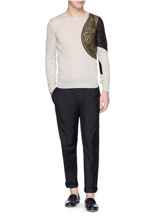 Figure View - Click To Enlarge - Dries Van Noten - 'Napoleon' harness sweater