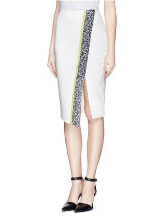 Front View - Click To Enlarge - Elizabeth and James - 'Bradshaw' asymmetric split pencil skirt