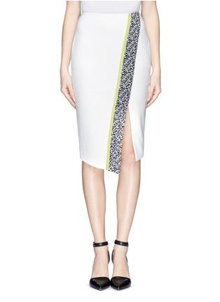 Main View - Click To Enlarge - Elizabeth and James - 'Bradshaw' asymmetric split pencil skirt