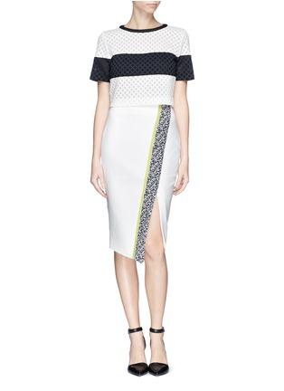 Figure View - Click To Enlarge - Elizabeth and James - 'Bradshaw' asymmetric split pencil skirt