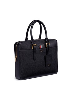 Thom Browne Pebbled leather business briefcase