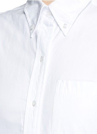 Detail View - Click To Enlarge - Thom Browne - Button down collar cotton Oxford shirt