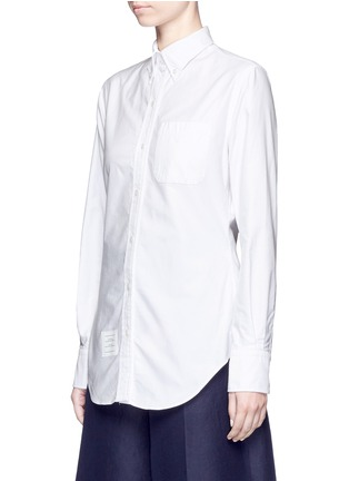 Front View - Click To Enlarge - Thom Browne - Button down collar cotton Oxford shirt
