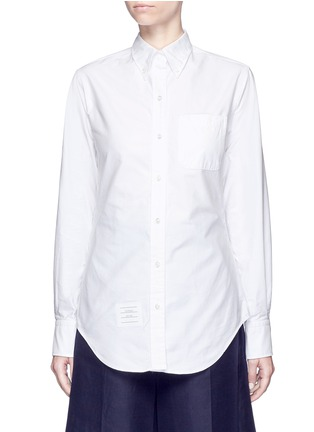 Main View - Click To Enlarge - Thom Browne - Button down collar cotton Oxford shirt