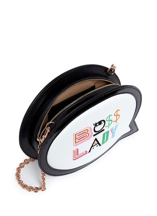 Detail View - Click To Enlarge - Sophia Webster - 'Boss Lady' speech bubble leather bag