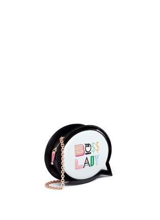 Front View - Click To Enlarge - Sophia Webster - 'Boss Lady' speech bubble leather bag
