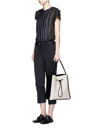 Figure View - Click To Enlarge - 3.1 Phillip Lim - 'Soleil' large leather drawstring bucket bag
