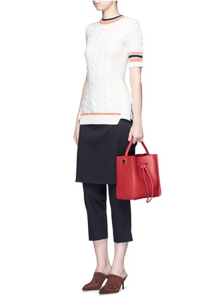 Figure View - Click To Enlarge - 3.1 PHILLIP LIM - 'Soleil' small leather drawstring bucket bag