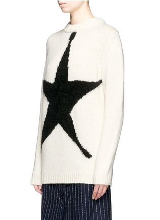 Front View - Click To Enlarge - ACNE STUDIOS - 'Shauni' star intarsia wool sweater