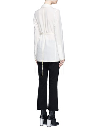 Back View - Click To Enlarge - Acne Studios - 'Tine' crepe de Chine belted jacket