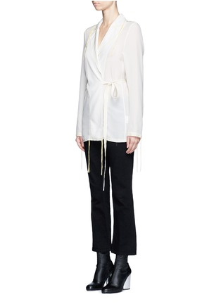 Front View - Click To Enlarge - Acne Studios - 'Tine' crepe de Chine belted jacket