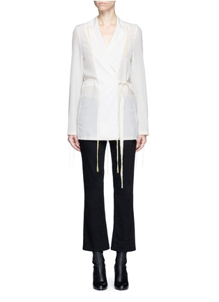 Main View - Click To Enlarge - Acne Studios - 'Tine' crepe de Chine belted jacket