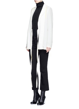 Figure View - Click To Enlarge - Acne Studios - 'Tine' crepe de Chine belted jacket