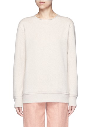 Main View - Click To Enlarge - Acne Studios - 'Carly' raw edge fleece sweatshirt
