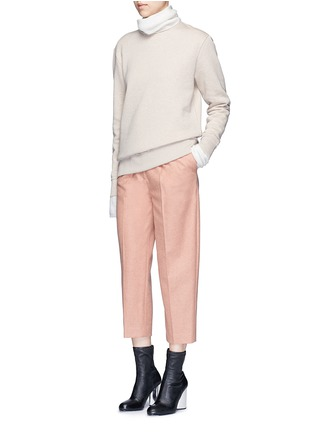 Figure View - Click To Enlarge - Acne Studios - 'Carly' raw edge fleece sweatshirt