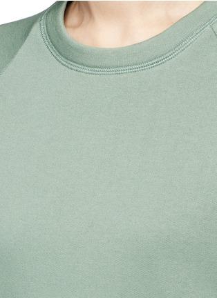Detail View - Click To Enlarge - Acne Studios - 'Cassie' cotton blend fleece sweatshirt