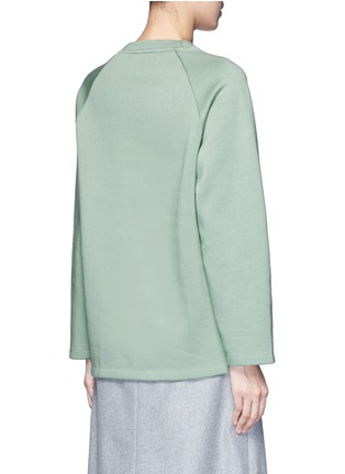Back View - Click To Enlarge - Acne Studios - 'Cassie' cotton blend fleece sweatshirt