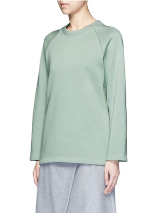 Front View - Click To Enlarge - ACNE STUDIOS - 'Cassie' cotton blend fleece sweatshirt