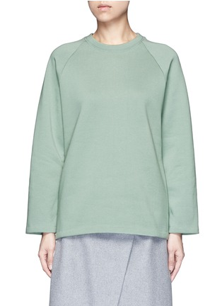 Main View - Click To Enlarge - Acne Studios - 'Cassie' cotton blend fleece sweatshirt