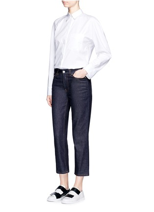 Figure View - Click To Enlarge - Acne Studios - 'Row' cropped boyfriend jeans