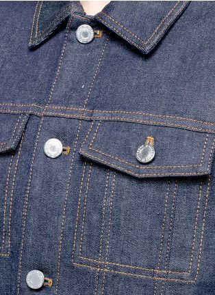 Detail View - Click To Enlarge - Givenchy - Denim button military cape coat
