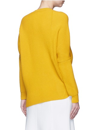 Back View - Click To Enlarge - Stella McCartney - Asymmetric virgin wool sweater