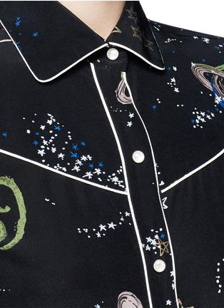 Detail View - Click To Enlarge - Valentino - Cosmos print silk pyjama shirt