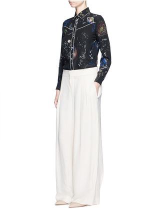 Figure View - Click To Enlarge - Valentino - Cosmos print silk pyjama shirt