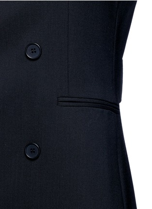 Detail View - Click To Enlarge - Theory - Virgin wool twill open front sleeveless jacket