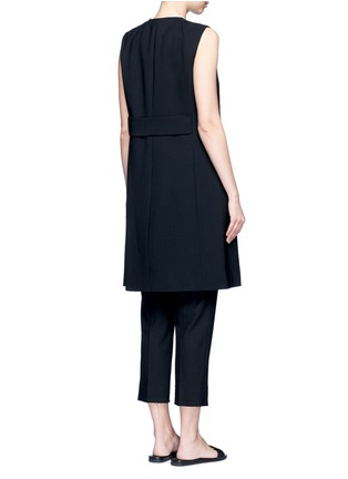 Back View - Click To Enlarge - Theory - Virgin wool twill open front sleeveless jacket