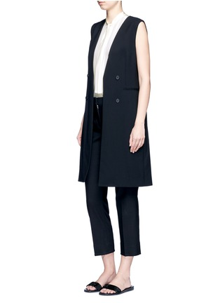 Figure View - Click To Enlarge - Theory - Virgin wool twill open front sleeveless jacket