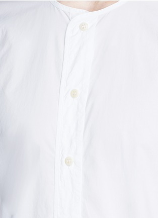 Detail View - Click To Enlarge - DENHAM - 'Zeband' collarless cotton shirt