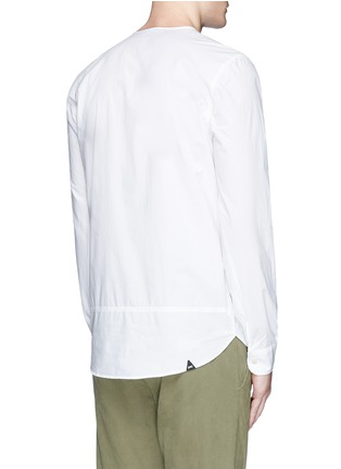 Back View - Click To Enlarge - DENHAM - 'Zeband' collarless cotton shirt