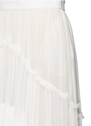 Detail View - Click To Enlarge - Chloé - Tiered silk mousseline maxi skirt