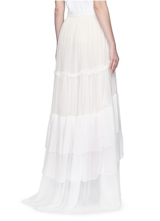 Back View - Click To Enlarge - Chloé - Tiered silk mousseline maxi skirt
