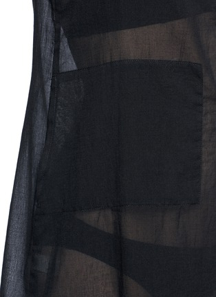 Detail View - Click To Enlarge - Araks - 'Joseh' ruche neck cover-up dress
