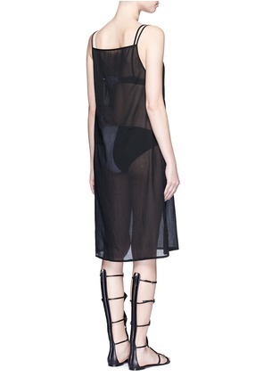 Back View - Click To Enlarge - Araks - 'Joseh' ruche neck cover-up dress