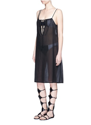 Figure View - Click To Enlarge - Araks - 'Joseh' ruche neck cover-up dress